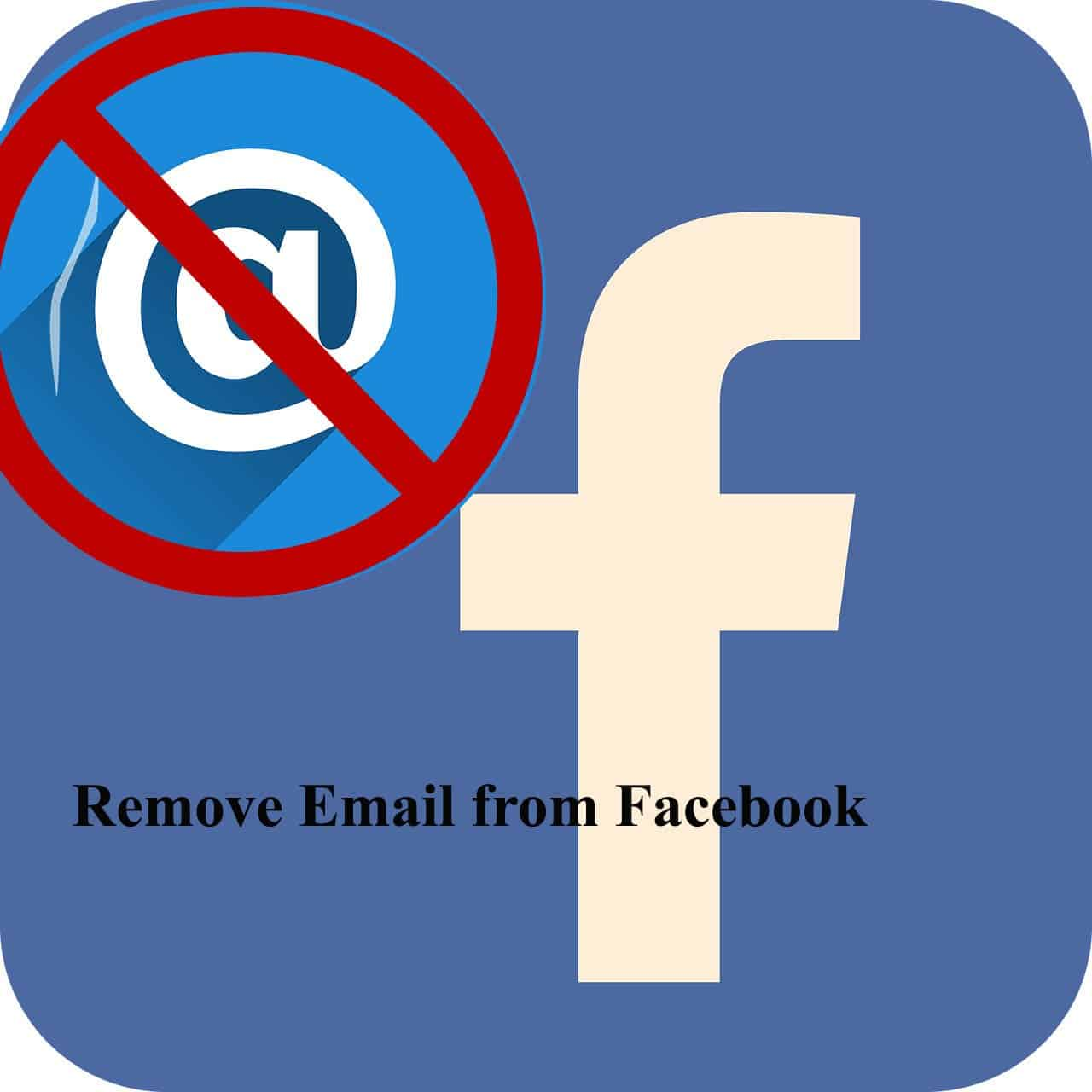 how to remove email from facebook