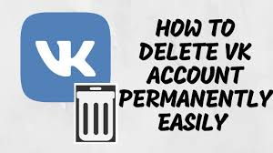 delete vk account